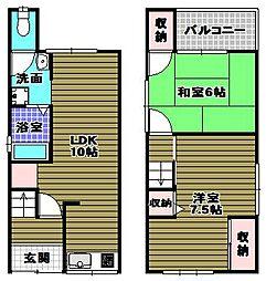 [一戸建] 大阪府堺市美原区北余部 の賃貸【/】の間取り
