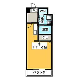レジデンス新瀬戸[7階]の間取り