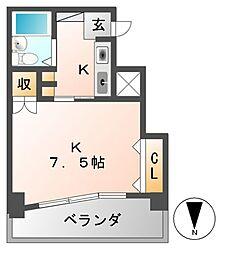 ジョイフル名古屋駅前[5階]の間取り