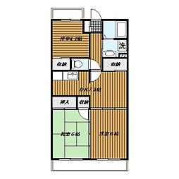 岩澤マンション[2階]の間取り