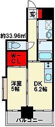 メゾン・ド・プレシューズ 4階1DKの間取り