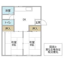 ホワイトマンション[202号室号室]の間取り