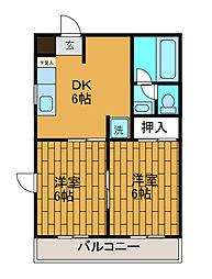 エクセル・ミコ[2階]の間取り