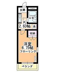 スイートマンション[201号室]の間取り