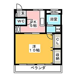 松田ビル[4階]の間取り