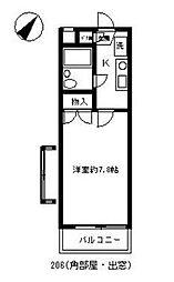 セルシオン相模原2[103号室]の間取り