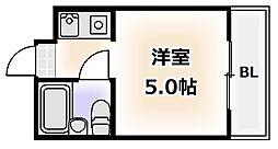アパートメント天王寺[10階]の間取り