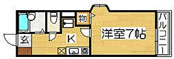 大阪府堺市堺区北三国ヶ丘町5丁の賃貸アパートの間取り