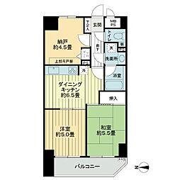 ライオンズマンション五反野駅前通り[5階]の間取り