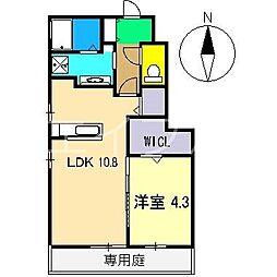 ベリーフォーレスト C棟[1階]の間取り
