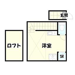 サークルハウス竹ノ塚弐番館[206号室]の間取り