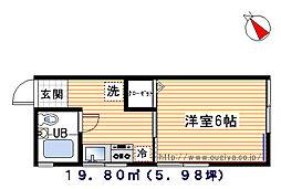 コーポ田子[205号室]の間取り
