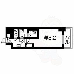 エスリード新栄プライム 11階1Kの間取り