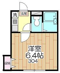 オペラシオンボヌール竹の塚[303号室]の間取り