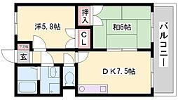 アメニティ中田III[302号室]の間取り