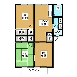 ガーデン欅A棟[1階]の間取り