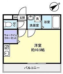 コンフォート大和田[1階]の間取り