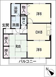 フローラルコートB棟[1階]の間取り