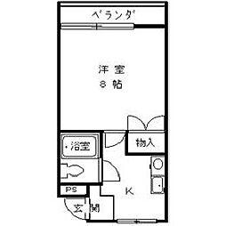 リバーサイドコグルマ[2階]の間取り