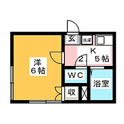 静岡県静岡市葵区馬場町の賃貸マンションの間取り