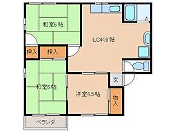 コーポマツムラA・B棟[1階]の間取り