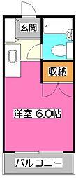 EXCEED狭山台 (エクシード狭山台)[2階]の間取り