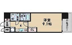 レジディア京町堀[2階]の間取り