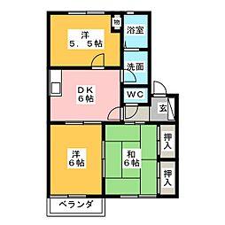 パル B[2階]の間取り