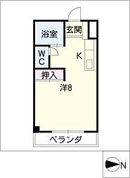 マスキャン長良[4階]の間取り