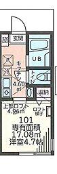 蒔田町アパート[1階]の間取り