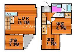 [一戸建] 岡山県岡山市中区今在家 の賃貸【岡山県 / 岡山市中区】の間取り