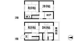 [テラスハウス] 兵庫県宝塚市清荒神3丁目 の賃貸【/】の間取り