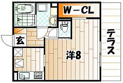 Polonia Kokura-kita[3階]の間取り