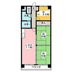 ノーサイドマンション[4階]の間取り