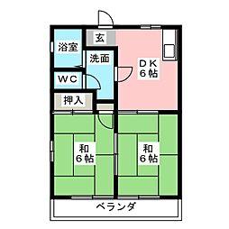 コーポ・千代崎[3階]の間取り