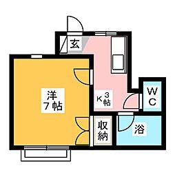 第3ロイヤル大嶋[1階]の間取り