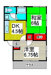 コーポ吉野[301号室]の間取り