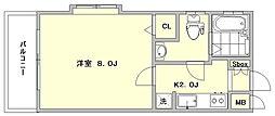 ピュアドーム博多21[601号室]の間取り