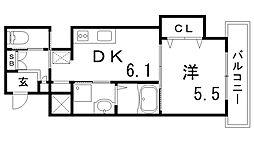 グランアクシス[2階]の間取り