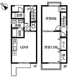 [テラスハウス] 愛知県春日井市藤山台8丁目 の賃貸【/】の間取り
