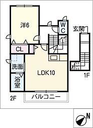 owl ikkyuu[2階]の間取り