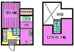 埼玉県川口市戸塚4丁目の賃貸アパートの間取り