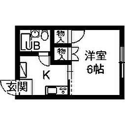 サザンハウス[1階]の間取り