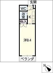 HUMMOCK新栄[1階]の間取り