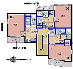 阪急千里線 関大前駅 徒歩1分の賃貸マンション 1階1Kの間取り