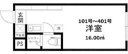 the eight[101号室]の間取り
