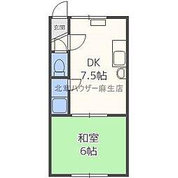 新川5−2ハイツ[1階]の間取り