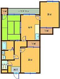 バンベールハウスB棟 203号室[203号室号室]の間取り