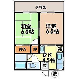 長崎県長崎市新戸町1丁目の賃貸アパートの間取り