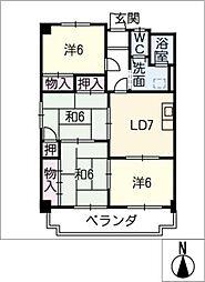 メイゾンサンポア B棟[3階]の間取り